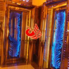 供应玫瑰金门高档豪华不锈钢发光门图片