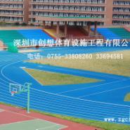 深圳塑胶跑道工程公司EPDM颗粒跑道图片