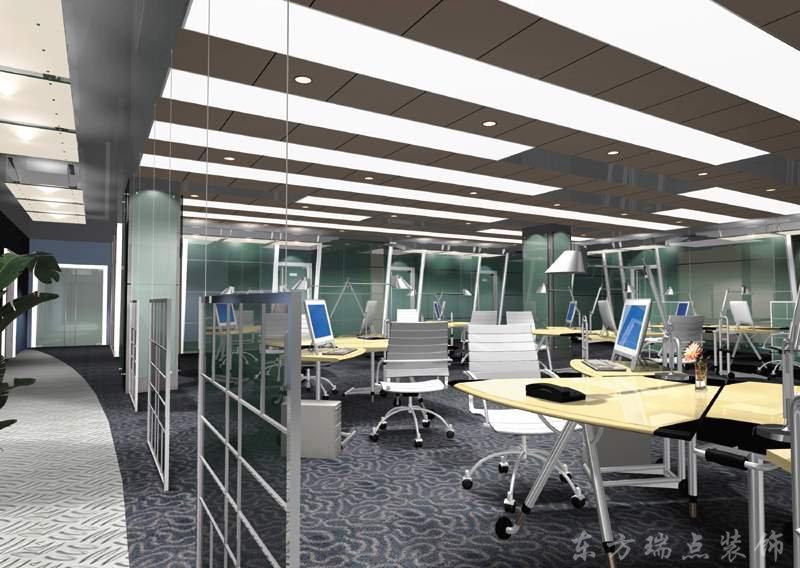 办公室图片 办公室样板图 办公室-北京东方瑞点装饰
