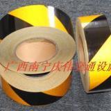 供应反光警示胶带黑黄反光膜贴地面警示