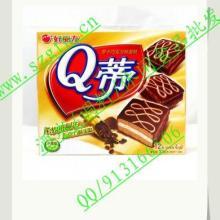 供应好丽友Q蒂摩卡巧克力蛋糕336g批发/好丽友系列休闲食品总代理批发