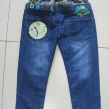 供应2012秋装裤子 卡通洗水儿童牛仔裤 面料柔软