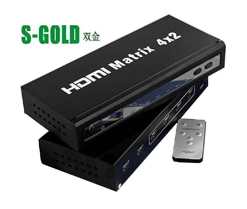 矩阵图片 矩阵样板图 HDMI真矩阵四进二出 深圳双金科技有...