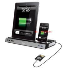 供应ipad/iphone两用座充音响批发