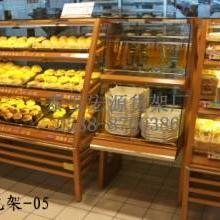 供应面包架木制超市面包展示架优质货架图片