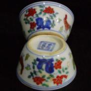 明代斗彩瓷器价格,明代斗彩瓷器鉴定,明代明代斗彩鸡缸杯拍卖