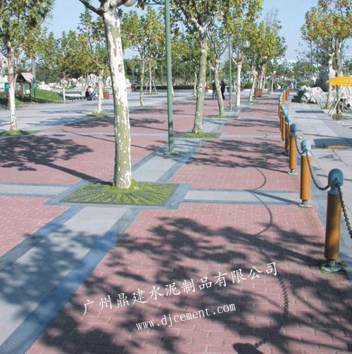 人行道砖图片 人行道砖样板图 环保砖环保彩砖人行道砖人高清图片