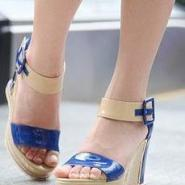 2012夏季外单女鞋糖果色高跟鞋厚底图片