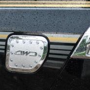 兰德酷路泽油箱盖电镀油箱盖装饰图片