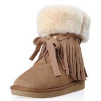 外贸原单光面低筒雪地靴/短靴