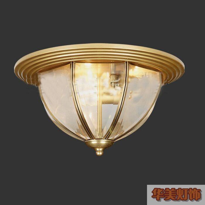 供应全铜灯饰吸顶灯欧式风格卧室装灯具图片