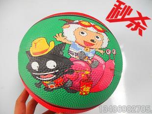 喜羊羊3号篮球 幼儿园用皮球 宝宝玩具篮球 小皮球 厂家直销