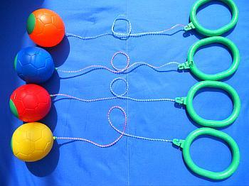 供应QQ炫舞跳跳球 健身球 蹦蹦球 跳跳环 儿童健身玩具 批发直销