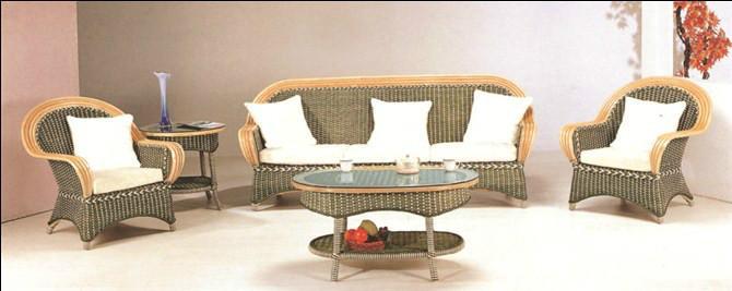 供应6919蓝带藤椅沙发昆明盘龙藤器图片
