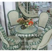 昆明仿藤椅昆明藤餐椅塑料藤沙发