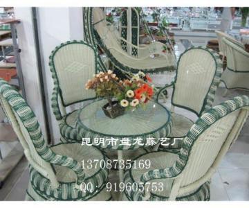供应昆明仿藤椅昆明藤餐椅塑料藤沙发系列藤椅休闲家具,茶室酒店藤椅图片