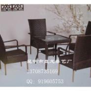 昆明仿藤椅312椅藤铁结合休闲藤椅图片