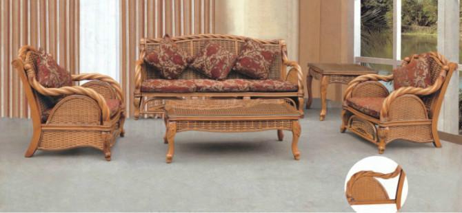 供应8803扭藤沙发昆明盘龙藤椅藤木沙发图片