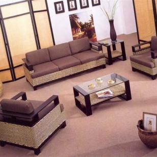 昆明藤椅客厅藤木沙发最低报价图片