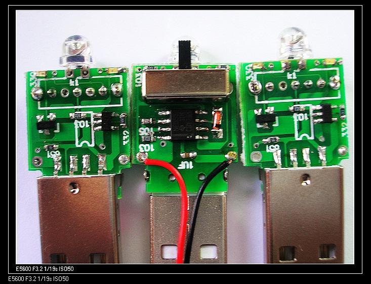 充电手电筒图片 充电手电筒样板图 USB充电手电筒电子板...