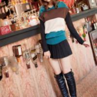 怛泽美韩版宽松短袖女式大码针织衫