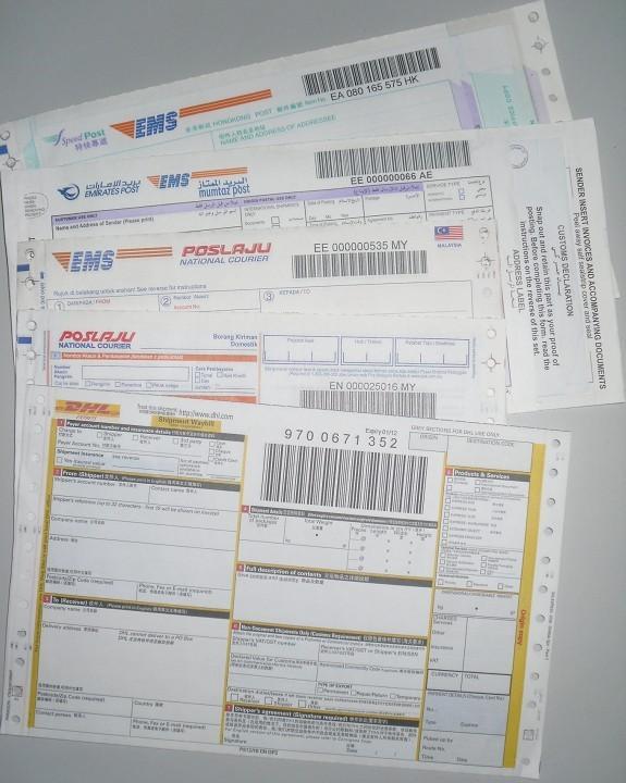 ems图片|ems样板图|类似dhl和ems快递面单哪家印刷好