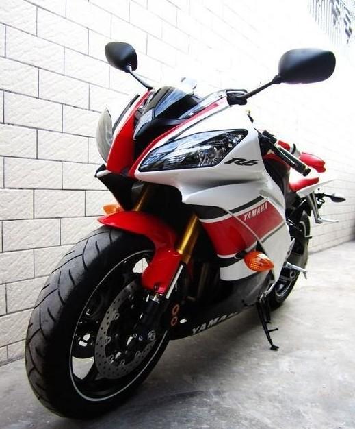 货商 供应碣石重型机车进口公路赛08年雅马哈YZFR6二手跑车摩托车图片
