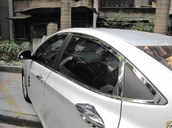 K2车窗装饰亮条样板图 K2车窗装饰亮条 广州天龙汽车用品公司高清图片