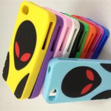 供应时尚又好看的外星人iphone4硅胶手机套批发
