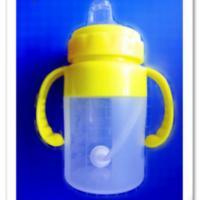 供应宽口径硅胶奶瓶/十字孔防漏硅胶奶瓶