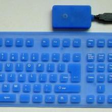 供应硅胶无线电脑键盘/硅胶电脑键盘