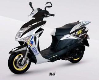 供应仿五羊本田魔战125cc踏板车摩托车图片