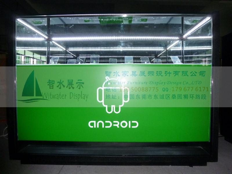 供应安卓手机柜台 绿色经典系列安卓手机柜台 定制铁质手机柜台