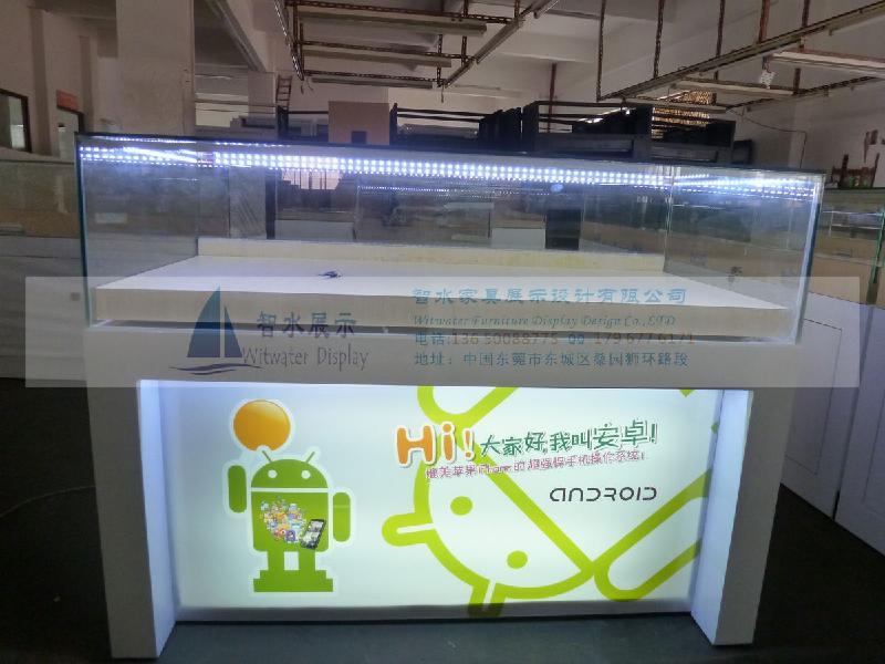 供应新出安卓封闭式手机展示柜台 安卓高档手机柜台