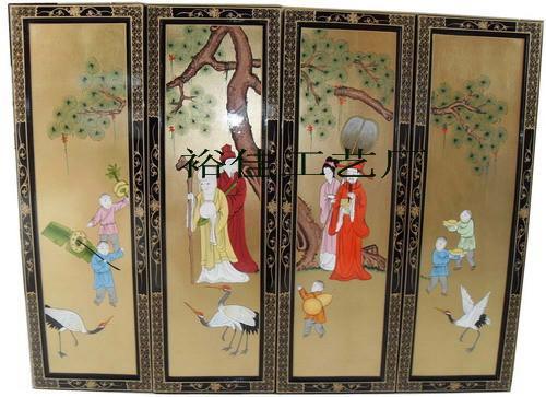 广东中式古典人物漆画挂画图片图片