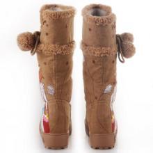 供应2012新款芦苇女孩高筒雪地棉靴批发
