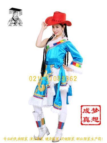 服饰图片简述:中国是一个有56个民族的大家庭少数民族的服装-56