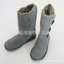 供应3873高筒狐狸毛舒适保暖雪地靴厂批发