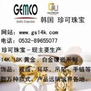 青岛韩国14K金戒指耳环项链吊坠图片