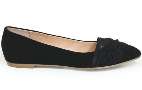 供应一件代发真皮女鞋网店代理纱网平底休闲女鞋