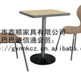 供应曲木椅餐桌椅固定椅分体椅餐椅等