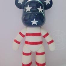 7寸暴力熊么么熊MOMO熊DIY玩具个性涂鸦搪胶卡通公仔手工白模批发