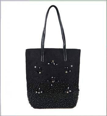 手提包包图片|手提包包样板图|蕾丝钩花拉绳手提包包