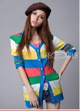 2012年学院风韩版针织衫批发OL气质针织衫批发
