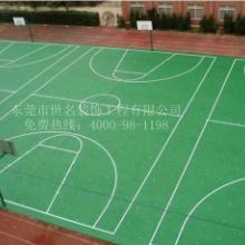 世名体育承接南头东凤硅PU网球场,中山黄圃塑胶篮球场施工厂家图片