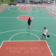 硅pu篮球场验收图片