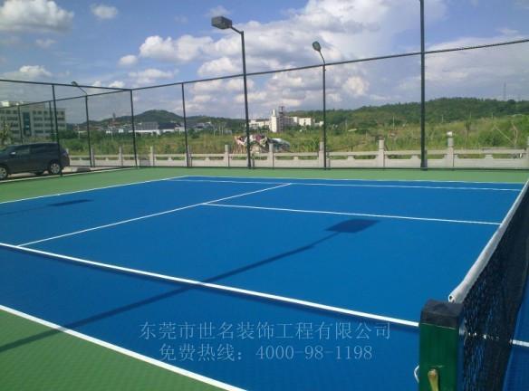 硅pu网球场地施工地坪价格 户外硅PU篮球场 硅pu屋顶网球场施工
