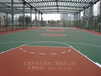 篮球场地图片/篮球场地样板图 (1)
