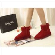 纯羊皮毛一体欧美短筒靴平底雪地靴图片
