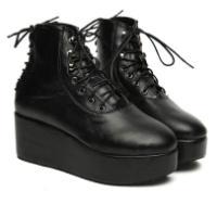 高跟女靴真皮2012欧美机车靴
